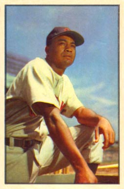 1953 Bowman Color Larry Doby #40 Baseball Card