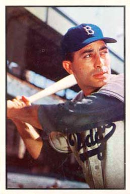 1953 Bowman Color Carl Furillo 78 Baseball Vcp Price Guide