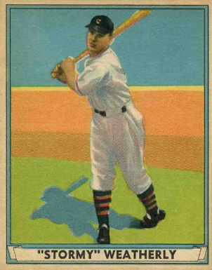 1941 Play Ball Roy Weatherly #17 Baseball Card