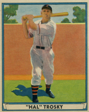1941 Play Ball Hal Trosky #16 Baseball Card
