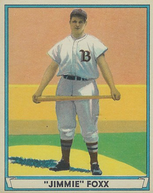 1941 Play Ball Jimmie Foxx #13 Baseball Card