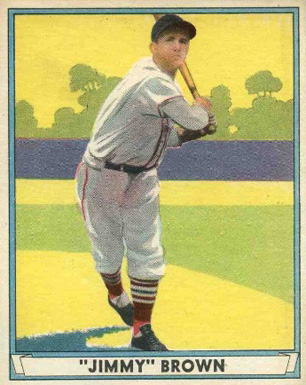 1941 Play Ball Jimmy Brown #12 Baseball Card