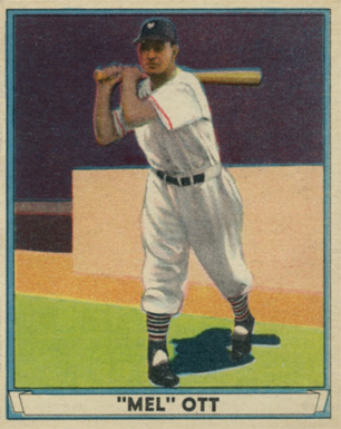 1941 Play Ball Mel Ott #8 Baseball Card