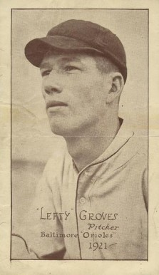 1921 Baltimore Orioles Tip Top  Lefty Grove #8 Baseball Card