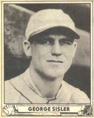 1940 Play Ball George Sisler #179 Baseball Card