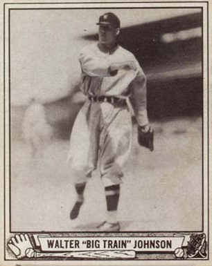 1940 Play Ball Walter Johnson #120 Baseball Card
