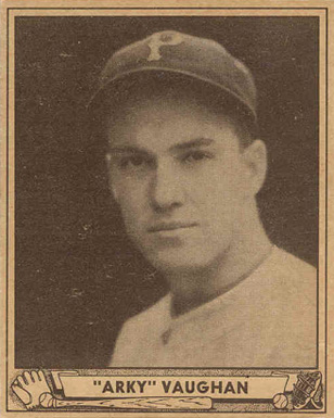 1940 Play Ball Arky Vaughan #107 Baseball Card
