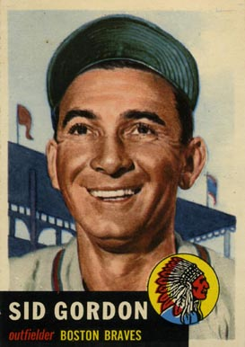 1953 Topps Sid Gordon #117 Baseball Card