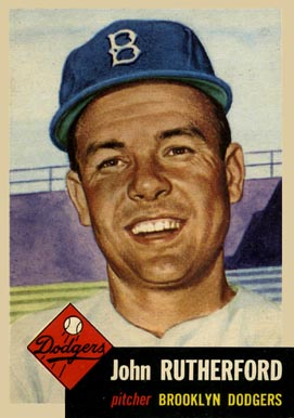 1953 Topps John Rutherford #137 Baseball Card