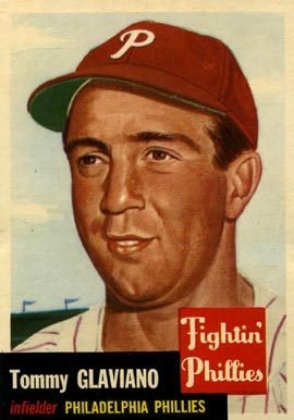 1953 Topps Tommy Glaviano #140 Baseball Card