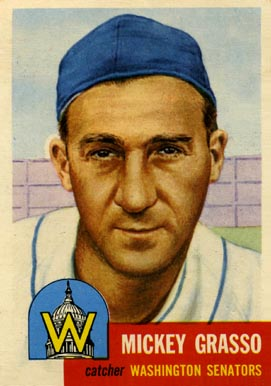 1953 Topps Mickey Grasso #148 Baseball Card