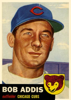 1953 Topps Bob Addis #157 Baseball Card