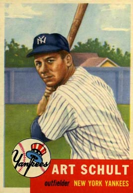 1953 Topps Art Schult #167 Baseball Card