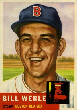1953 Topps Bill Werle #170 Baseball Card