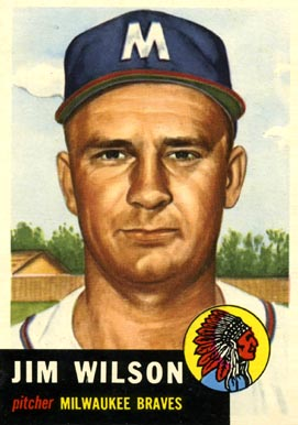 1953 Topps Jim Wilson #208 Baseball Card