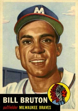 1953 Topps Bill Bruton #214 Baseball Card