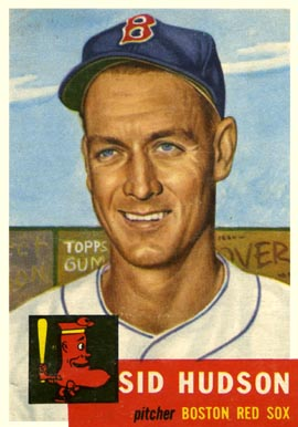 1954 Topps #93 Sid Hudson Boston Red Sox Baseball Card