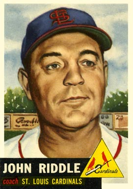 1953 Topps John Riddle #274 Baseball Card