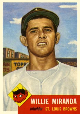 1953 Topps Willie Miranda #278 Baseball Card