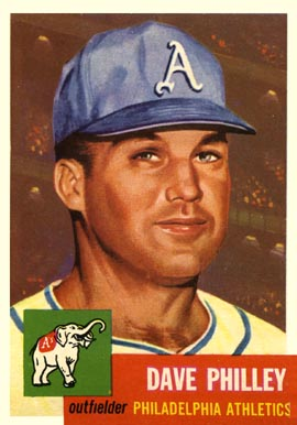 1953 Topps Dave Philley #64 Baseball Card