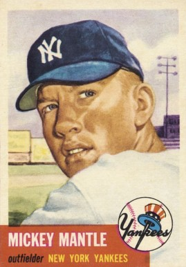 1953 Topps Mickey Mantle #82 Baseball Card