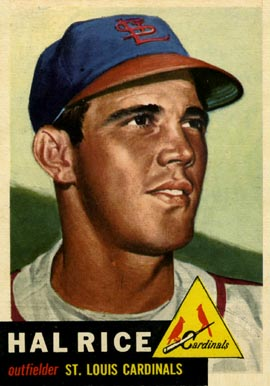 1953 Topps Hal Rice #93 Baseball Card