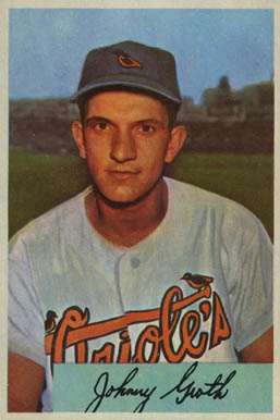 1954 Bowman Johnny Groth #165 Baseball Card