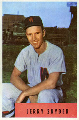 1954 Bowman Jerry Snyder #216 Baseball Card