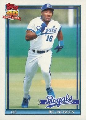 1991 Topps Bo Jackson 600 Baseball Card Value Price Guide