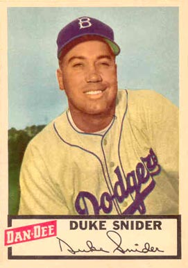 1954 Dan-Dee Potato Chips Duke Snider #24 Baseball Card