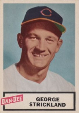 1954 Dan-Dee Potato Chips George Strickland #25 Baseball Card