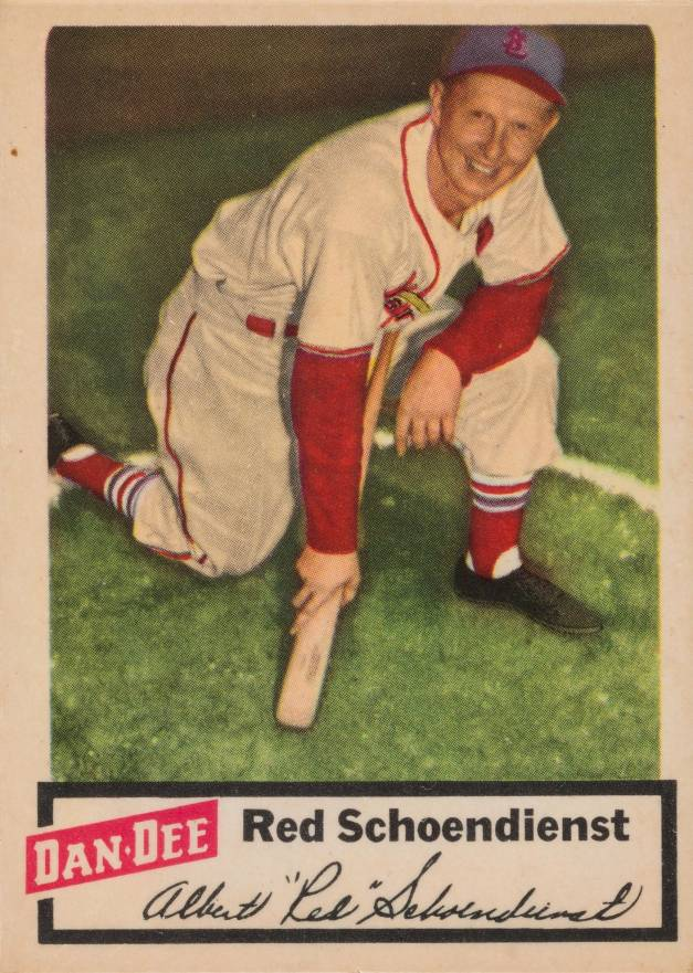 1954 Dan-Dee Potato Chips Red Schoendienst #22 Baseball Card