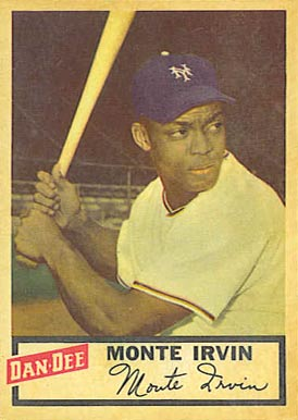1954 Dan-Dee Potato Chips Monte Irvin #13 Baseball Card