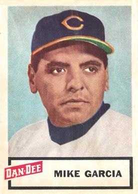 1954 Dan-Dee Potato Chips Mike Garcia #8 Baseball Card