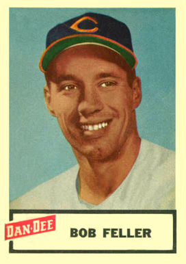 1954 Dan-Dee Potato Chips Bob Feller #6 Baseball Card