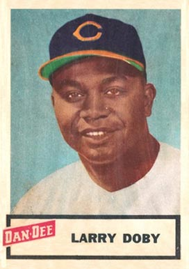 1954 Dan-Dee Potato Chips Larry Doby #4 Baseball Card