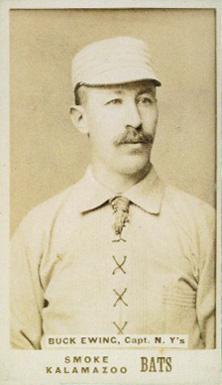 1887 Kalamazoo Bats Buck Ewing #16 Baseball Card Value