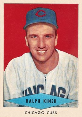 1954 Red Heart Dog Food Ralph Kiner #14 Baseball Card