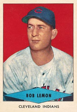 1954 Red Heart Dog Food Bob Lemon #16 Baseball Card