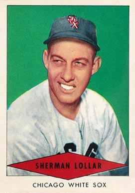 1954 Red Heart Dog Food Sherman Lollar #17 Baseball Card