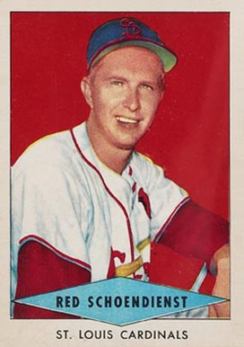 1954 Red Heart Dog Food Red Schoendienst #27 Baseball Card