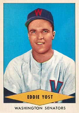 1954 Red Heart Dog Food Eddie Yost #32 Baseball Card