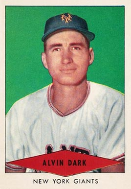1954 Red Heart Dog Food Alvin Dark #5 Baseball Card