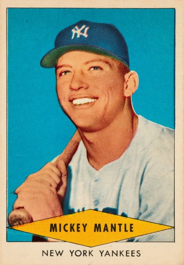 1954 Red Heart Dog Food Mickey Mantle #18 Baseball Card