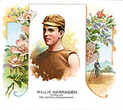 1888 Allen & Ginter Willie Harradon #22 Boxing & Other Card