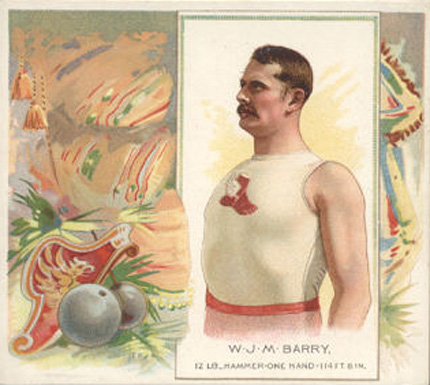 1888 Allen & Ginter W. Barry #2 Boxing & Other Card