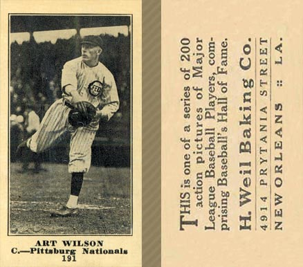 1916 Weil Baking Co. Art Wilson #191 Baseball Card