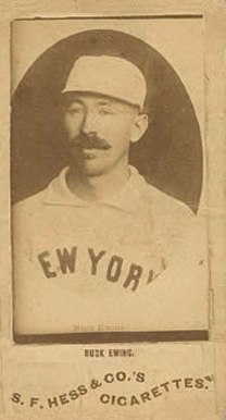 1888 Hess Big League Buck Ewing #4 Baseball Card