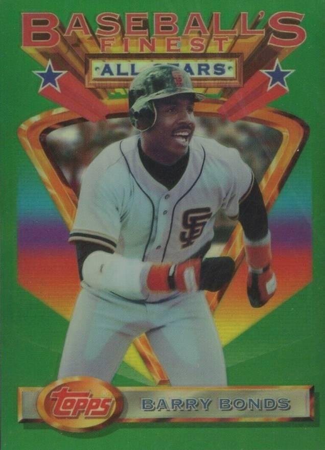1993 Finest Refractor Barry Bonds #103 Baseball Card