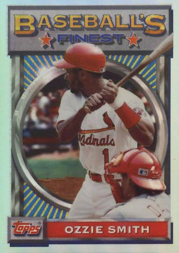 1993 Finest Refractor Ozzie Smith #28 Baseball Card